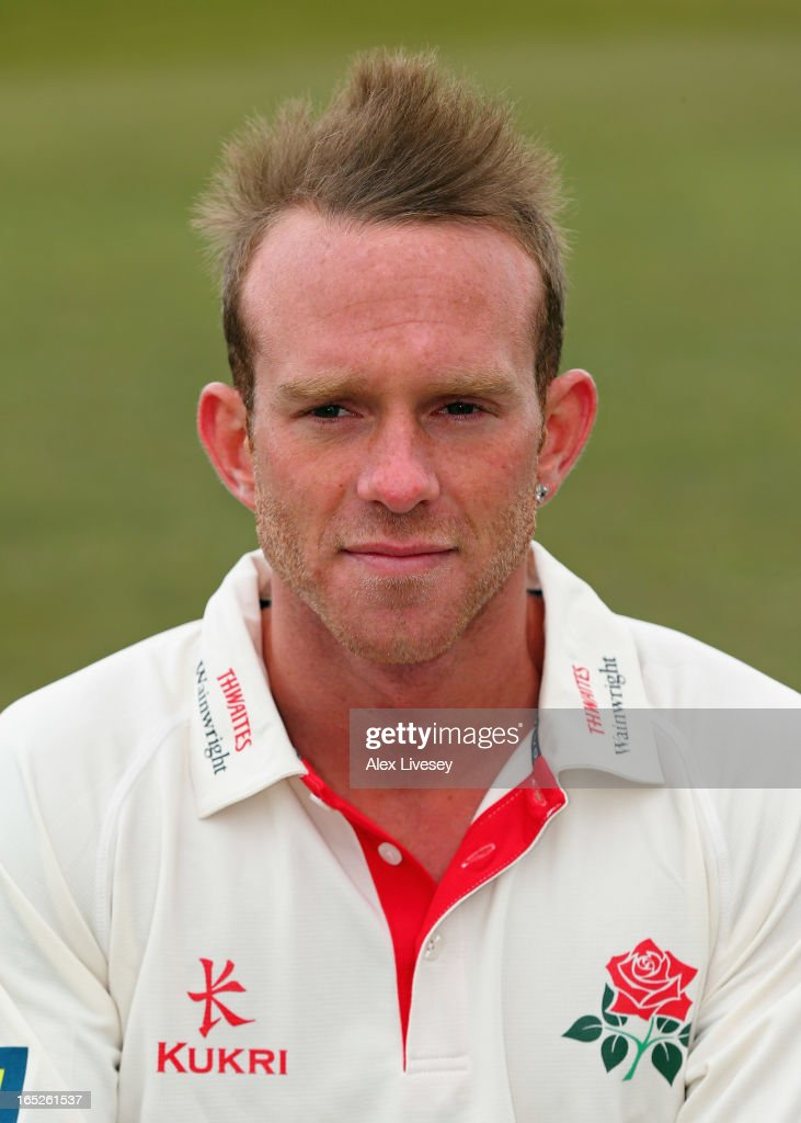 Luke Procter of Lancashire CCC during a pre-season photocall at Old Trafford on April 2, 2013 in Manchester, England.