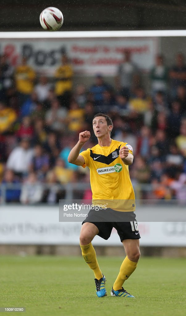 Luke Prosser of Southend United in action during the npower League Two match between Northampton Town and Southend United at Sixfields Stadium on August 25, 2012 in Northampton, England.