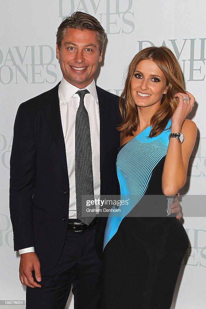 Luke Ricketson (L) and Kate Waterhouse attend the David Jones S/S 2012/13 Season Launch at David Jones Castlereagh Street on August 14, 2012 in Sydney, Australia.