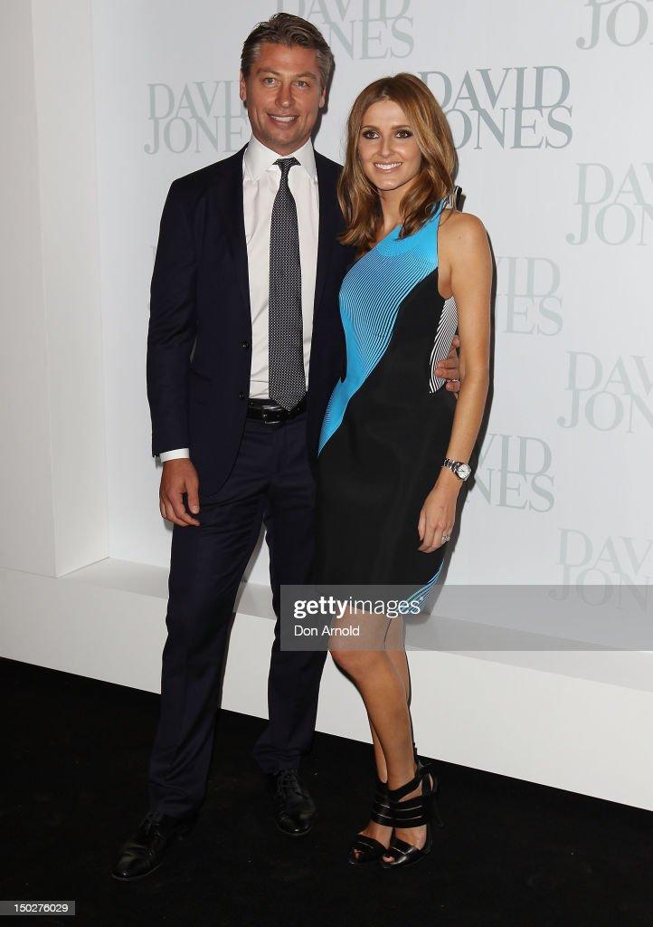 Luke Ricketson and Kate Waterhouse attend the David Jones S/S 2012/13 Season Launch at David Jones Castlereagh Street, on August 14, 2012 in Sydney, Australia.