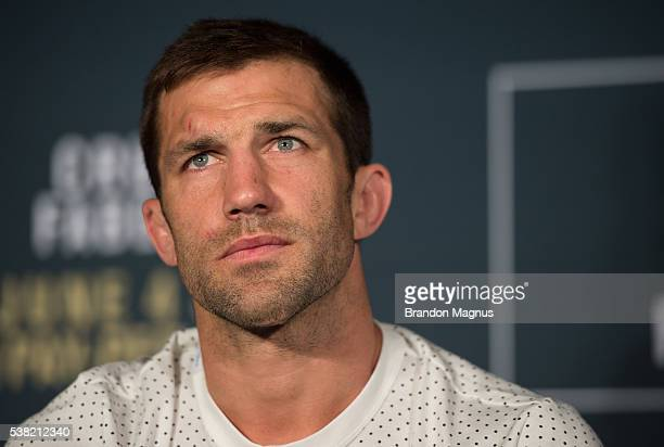 Luke Rockhold attends the post fight press conference after the UFC 199 event at The Forum on June 4 2016 in Inglewood California