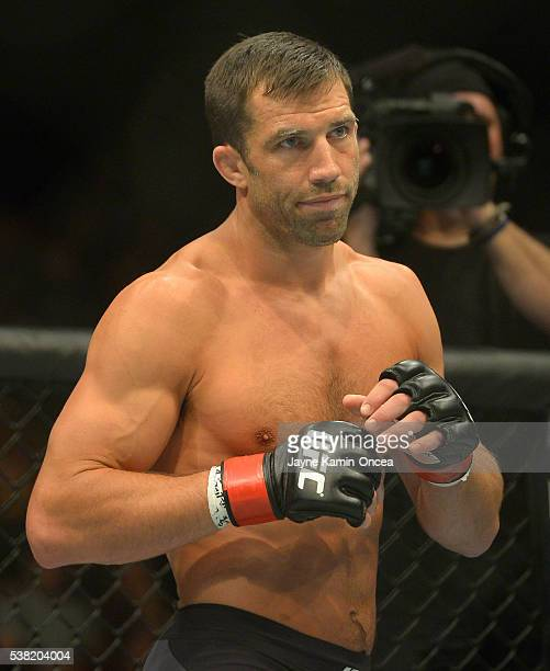 Luke Rockhold in the cage during his middleweight championship bout at UFC 199 at The Forum on June 4 2016 in Inglewood California