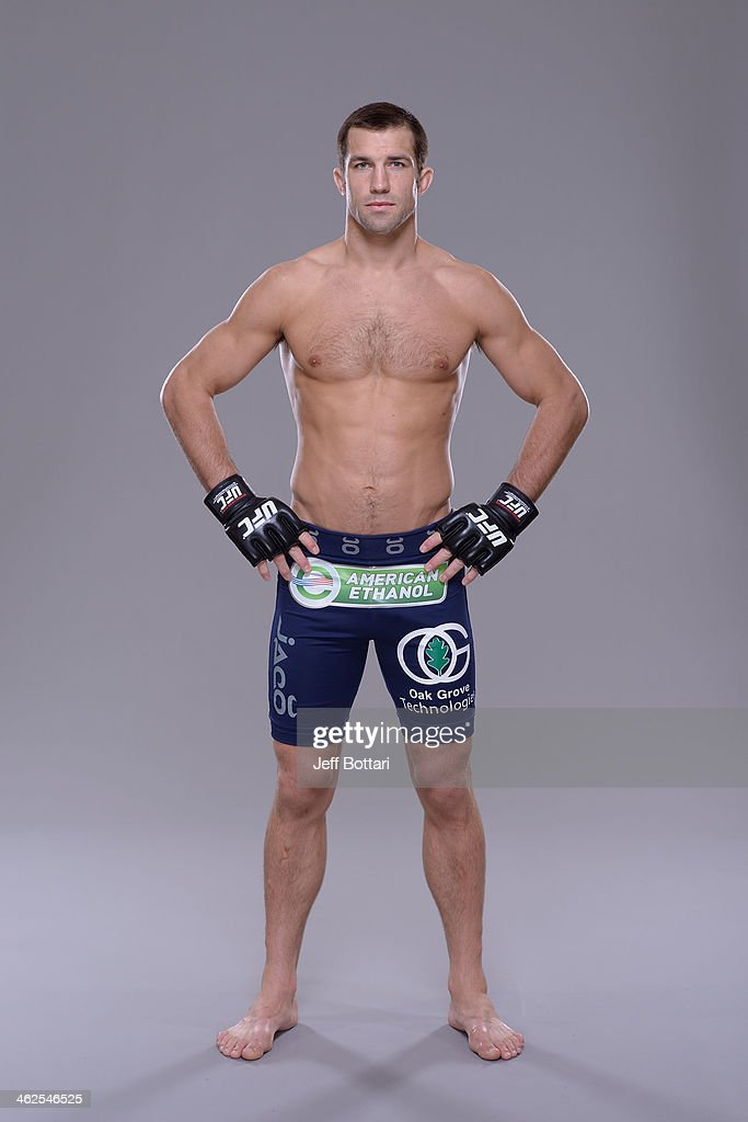 Luke Rockhold poses for a portrait during a UFC photo session on January 12, 2014 in Duluth, Georgia.