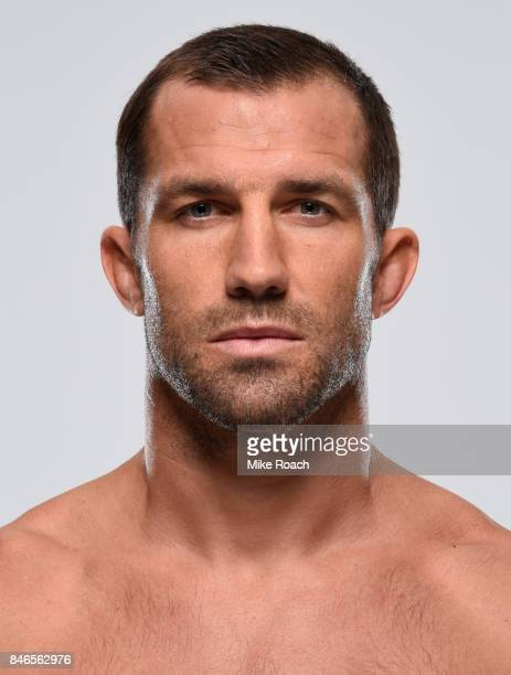 Luke Rockhold poses for a portrait during a UFC photo session on September 13 2017 in Pittsburgh Pennsylvania