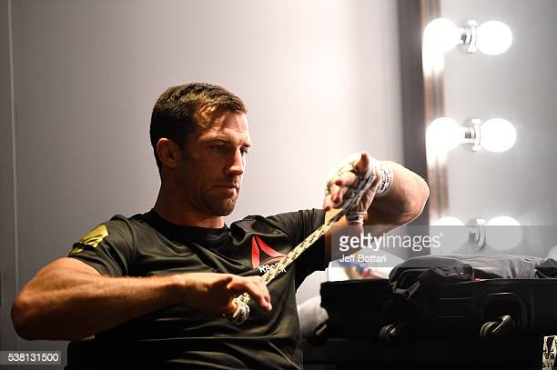 Luke Rockhold prepares for his fight against Michael Bisping during the UFC 199 event at The Forum on June 4 2016 in Inglewood California