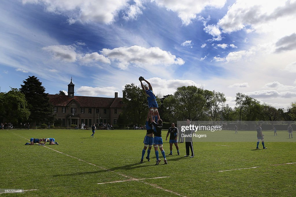 Luke Romano catches the ball during a New Zealand All Blacks training session at Saint George's College on September 24, 2012 in Buenos Aires, Argentina.