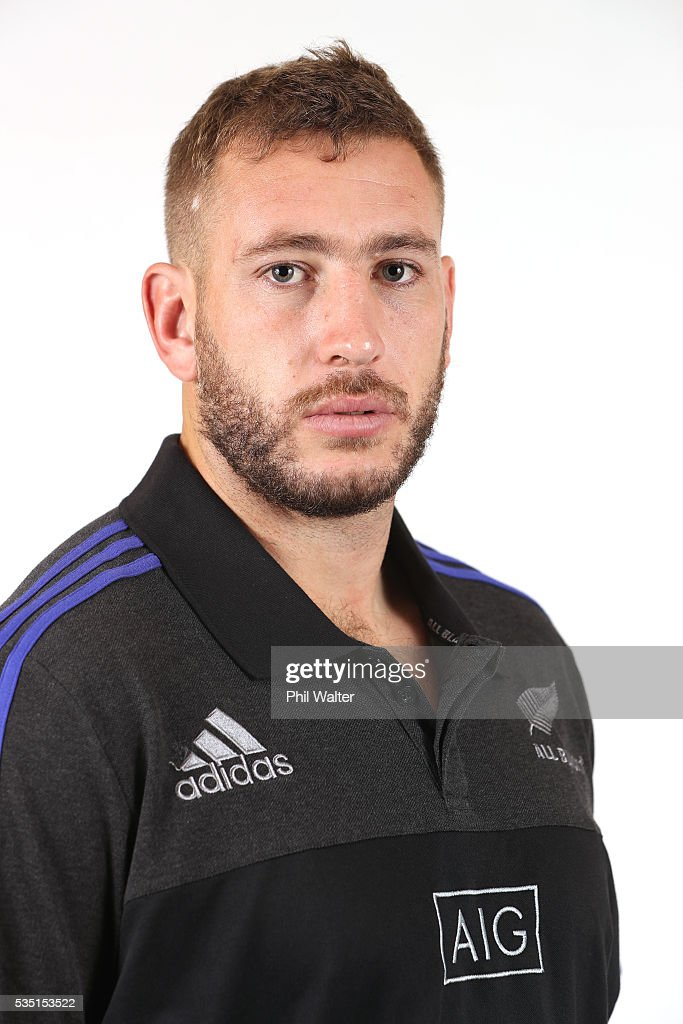Luke Romano of the All Blacks poses for a portrait on May 29, 2016 in Auckland, New Zealand.