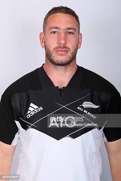 Luke Romano poses during the All Blacks End of Year Tour 2016 Headshots Session at Auckland International Airport Novotel on October 28 2016 in...