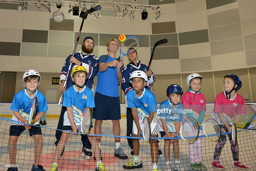 Luke Saville of Australia attends Tennis On Ice at Medibank Icehouse during day three of the 2013 Australian Open on January 16, 2013 in Melbourne, Australia.