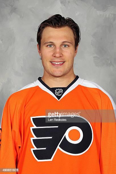 Luke Schenn of the Philadelphia Flyers poses for his official headshot for the 20152016 season on September 18 2015 at the Virtua Flyers Skate Zone...