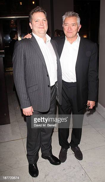 Luke Shaw and Martin Shaw attend an after party following the press night performance of 'Twelve Angry Men' on November 11 2013 in London England