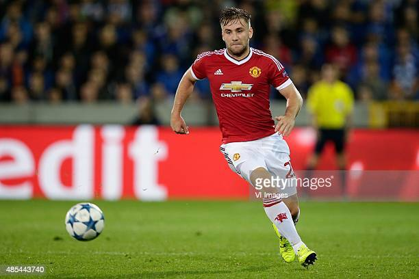Luke Shaw of Manchester United during the UEFA Champions League playoffs match between Club Brugge and Manchester United on August 26 2015 at the Jan...
