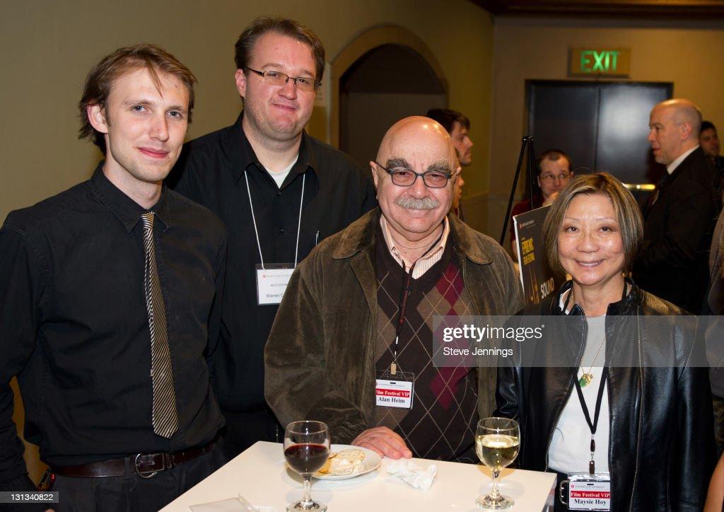 Luke Shock Warren Croker Alan Heim and Maysie Hoy attend the Academy of Art University 5th Annual Epidemic Film Festival at Golden Gate Theatre on...