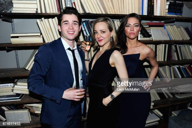 Luke Slattery Geneva Carr and Trieste Kelly Dunn attend the 'Blame' After Party 2017 Tribeca Film Festival at Troy Liquor Bar on April 22 2017 in New...