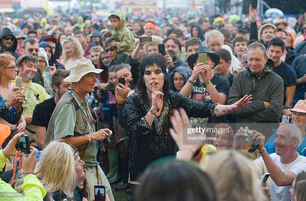 Luke Spiller of the Struts performing at IOW Festival at Seaclose Park on June 12 2015 in Newport United Kingdom