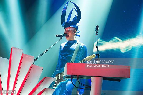Luke Steele from Empire of the Sun performs at L'Olympia on October 20 2016 in Paris France