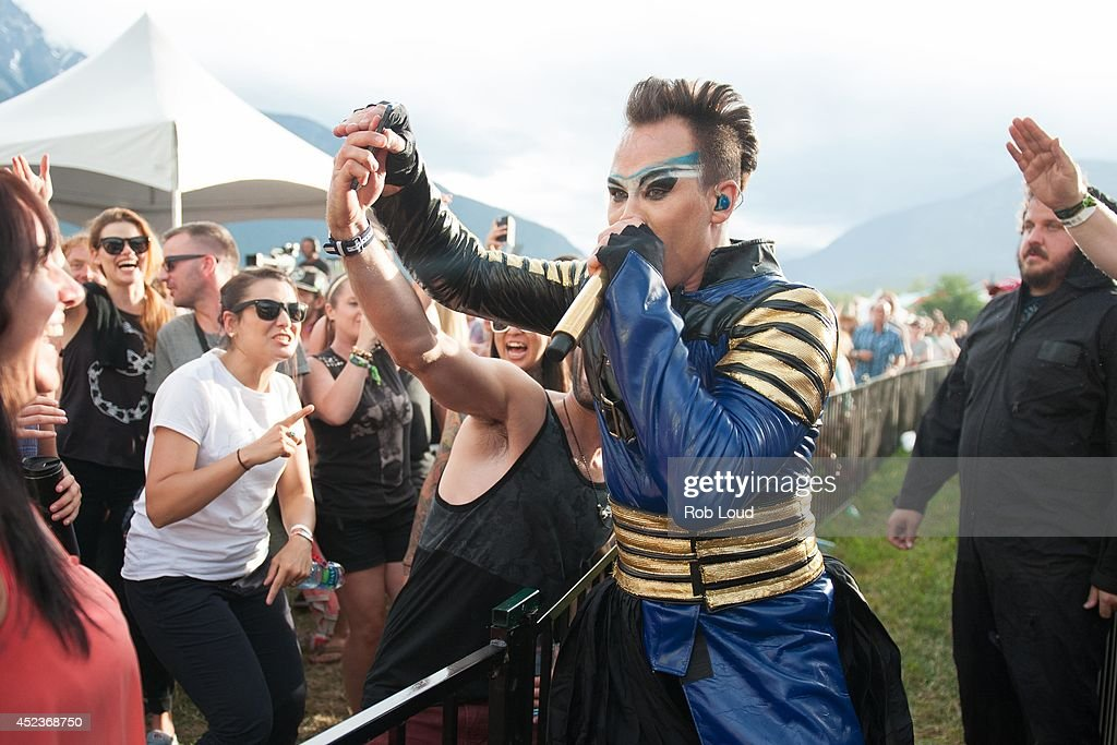 Luke Steele of Empire of the Sun perform at the Pemberton Festival on July 18, 2014 in Pemberton, Canada.