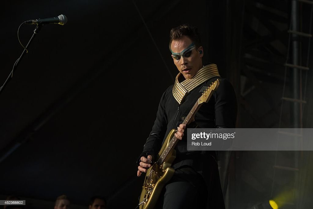 Luke Steele of Empire of the Sun performs at the Pemberton Festival on July 18, 2014 in Pemberton, Canada.