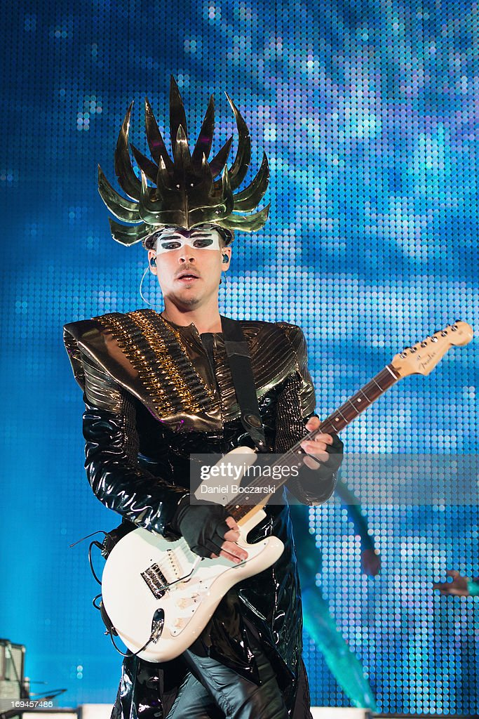 Luke Steele of Empire of the Sun performs during 2013 Electric Daisy Carnival Chicago at Chicagoland Speedway on May 24, 2013 in Joliet City.