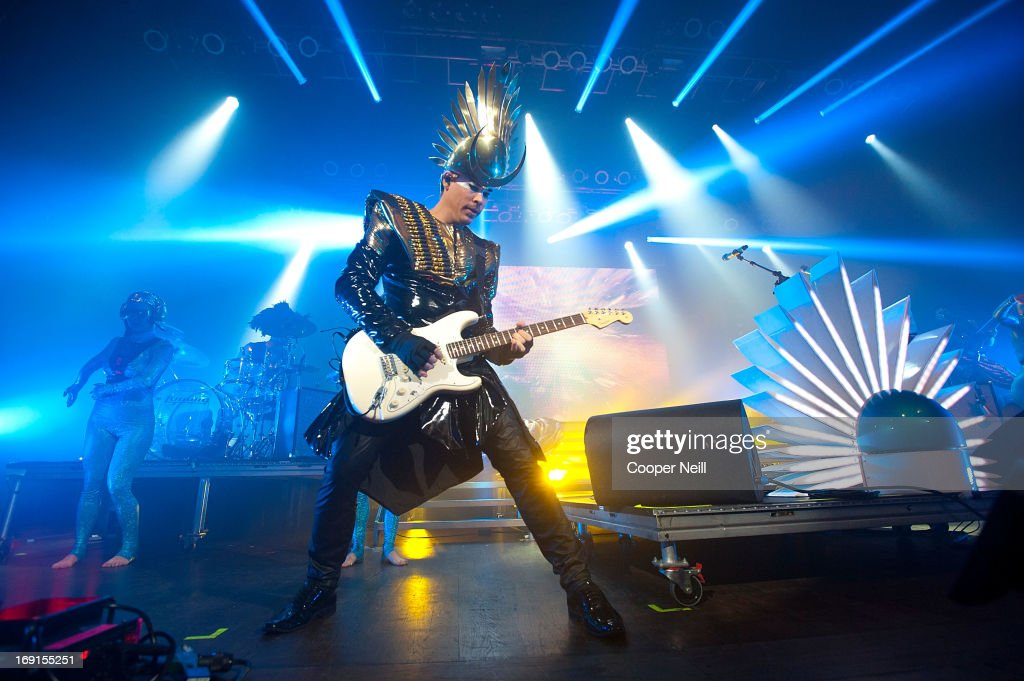 Luke Steele of Empire Of The Sun performs for Yahoo! On The Road at the House Of Blues on May 20, 2013 in Dallas, Texas.