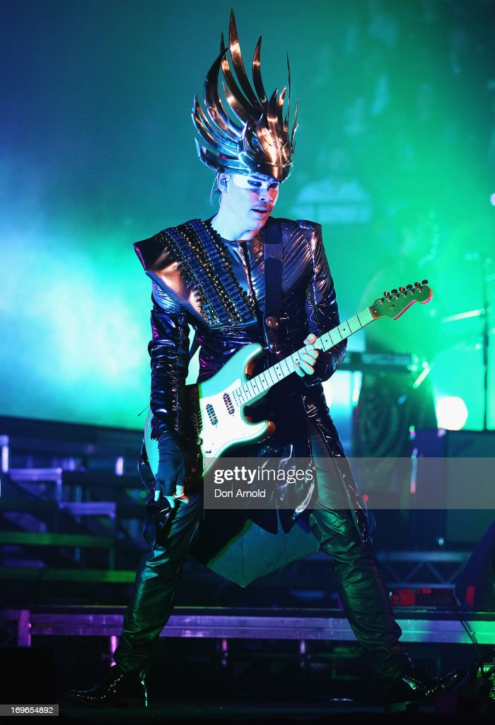 Luke Steele of Empire of the Sun performs on stage during a world exclusive album premiere at the Sydney Opera House on May 30, 2013 in Sydney, Australia. The event will be live streamed on Youtube and will be available on-demand on the 'Live at the House' channel following the show.