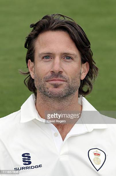 Luke Sutton of Derbyshire CCC poses for a portrait at The County Ground on April 5 2011 in Derby England