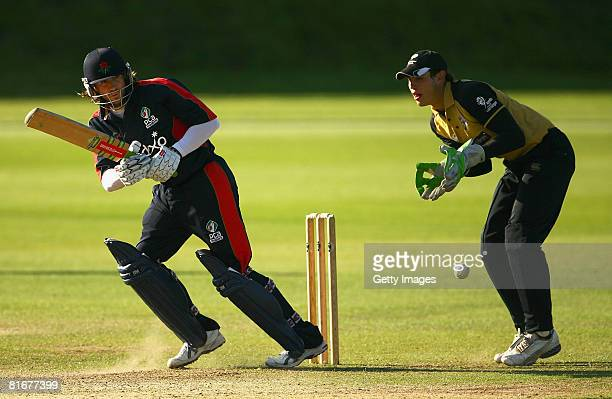 Luke Sutton of the PCA Masters in action during the Yorkshire Academy and PCA Masters match at Sheffield Collegiate Cricket Club on June 23 2008 in...