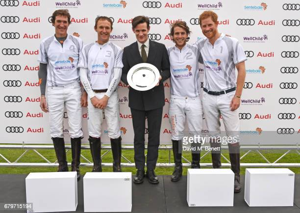 Luke Tomlinson Mark Tomlinson Matt Smith Charlie Hanbury and Prince Harry attend the Audi Polo Challenge at Coworth Park on May 6 2017 in Ascot...