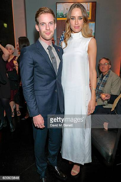 Luke Treadaway and Ruta Gedmintas attend an after party celebrating the World Premiere of 'A Street Cat Named Bob' at Morton's Club on November 3...
