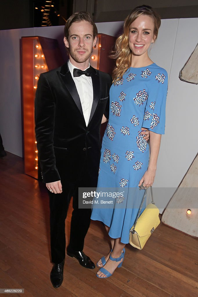 Luke Treadaway and Ruta Gedmintas attend Fast Forward The National Theatre's fundraising gala at The National Theatre on March 4 2015 in London...