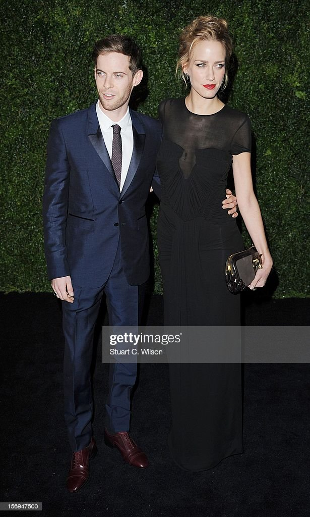 Luke Treadaway and Ruta Gedmintas attend the 58th London Evening Standard Theatre Awards in association with Burberry on November 25, 2012 in London, England.