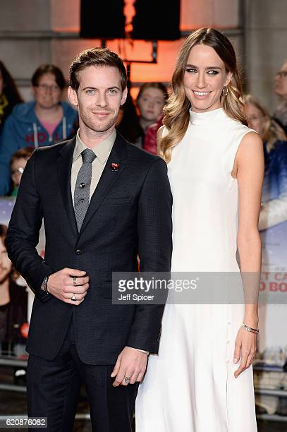 Luke Treadaway and Ruta Gedmintas attend the UK Premiere of 'A Street Cat Named Bob' in aid of Action On Addiction on November 3 2016 in London...