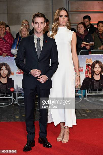 Luke Treadaway and Ruta Gedmintas attend the UK Premiere of 'A Street Cat Named Bob' in aid of Action On Addiction at the Curzon Mayfair on November...