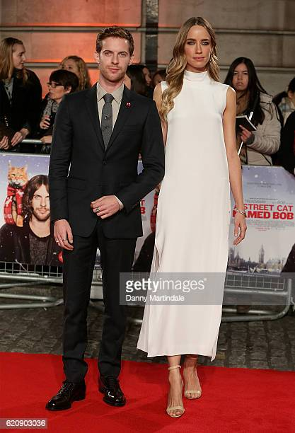 Luke Treadaway and Ruta Gedmintas attends UK Premiere of 'A Street Cat Named Bob' in aid of Action On Addiction on November 3 2016 in London United...