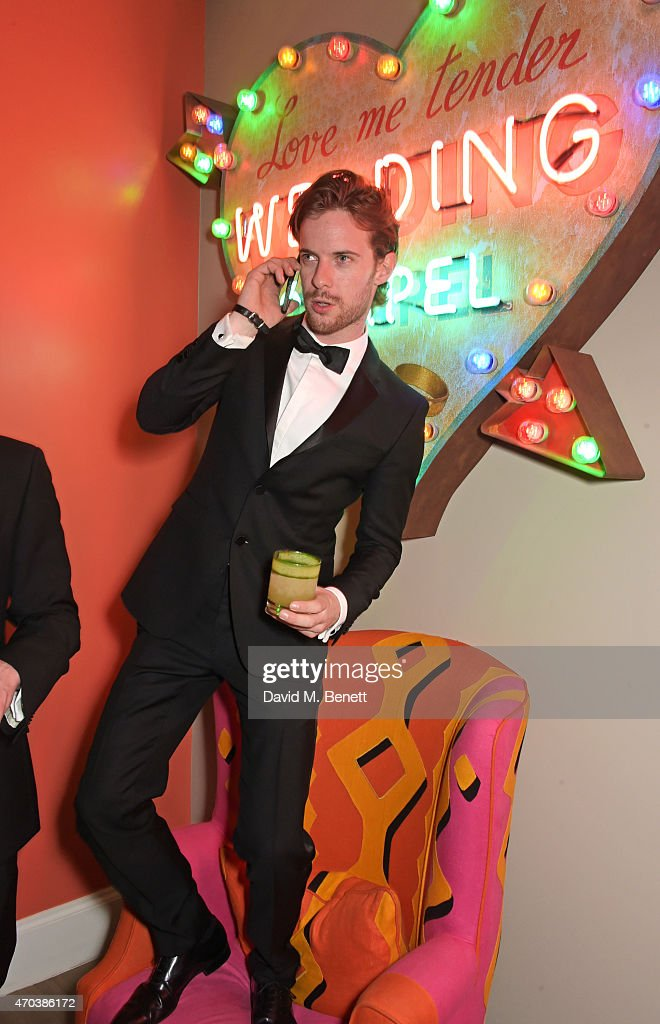 Luke Treadaway arrives at Ham Yard Hotel for the After Party of The Old Vic's A Gala Celebration in Honour of Kevin Spacey on April 19 2015 in London...