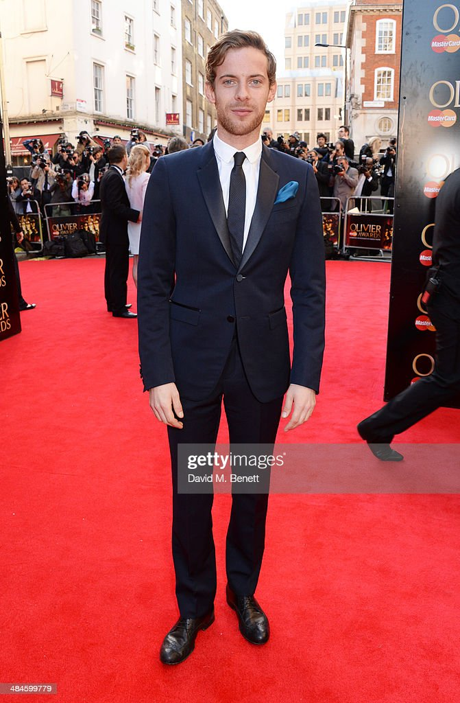 Luke Treadaway attends the Laurence Olivier Awards at The Royal Opera House on April 13 2014 in London England