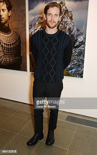 Luke Treadaway attends the Pringle of Scotland Fully Fashioned Exhibition and Autumn/Winter 2015 Womenswear Runway Show at The Serpentine Gallery on...