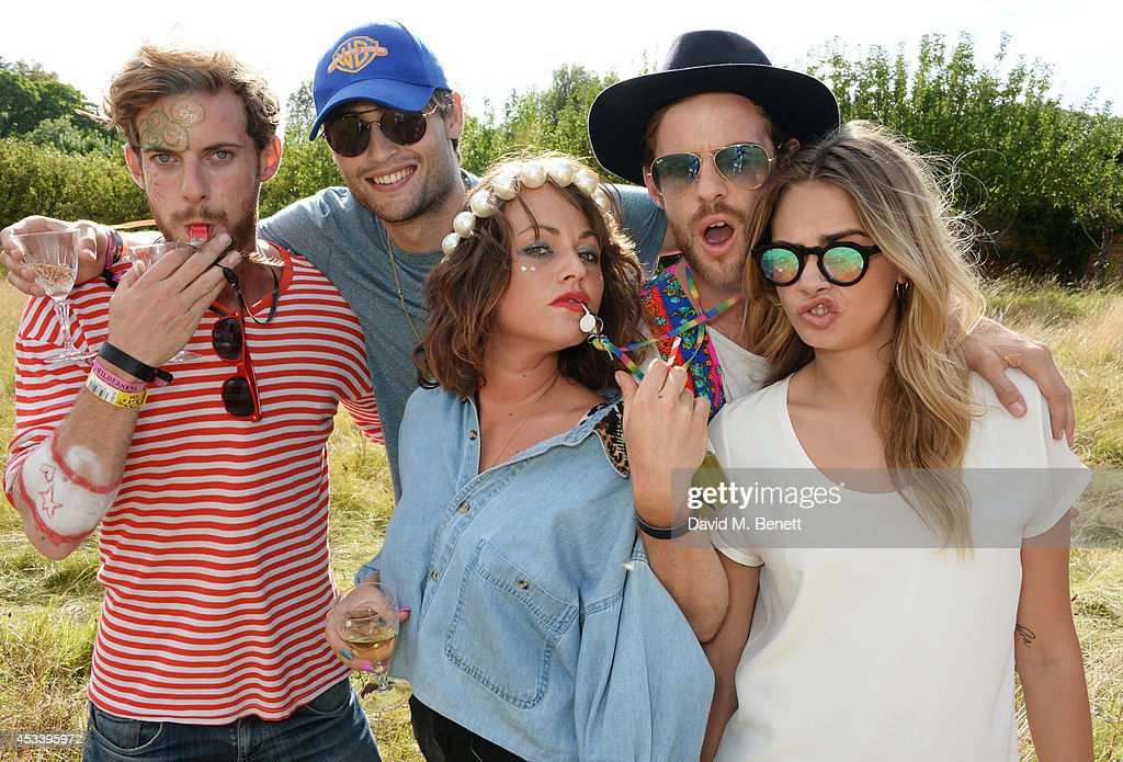 Luke Treadaway Douglas Booth Jaime WInstone Harry Treadaway and Cara Delevingne attend The Mulberry Wilderness Picnic with Cara Delevingne during...