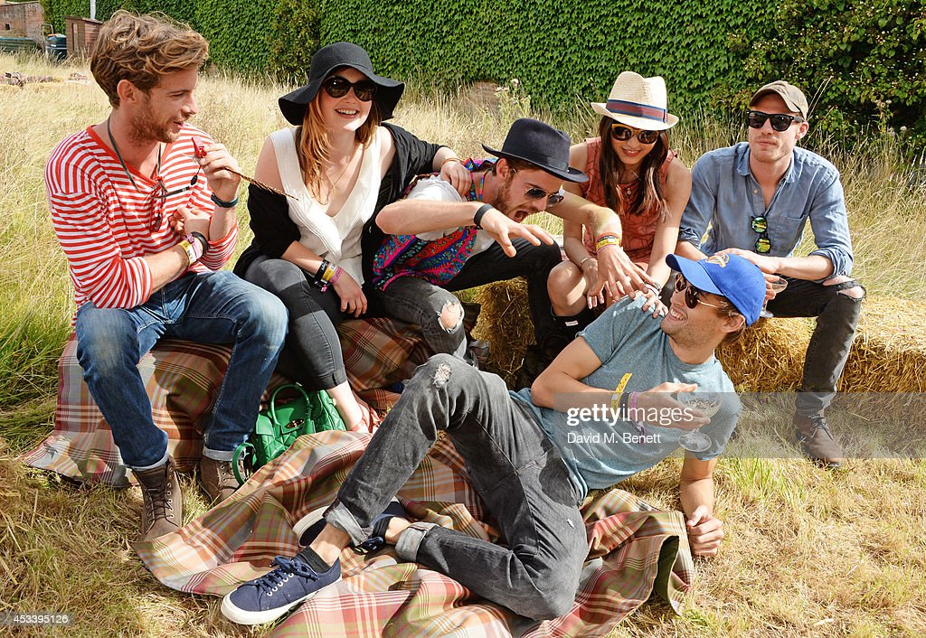 Luke Treadaway Holliday Grainger Harry Treadaway Gemma Chan Douglas Booth and Sam Reid attend The Mulberry Wilderness Picnic with Cara Delevingne...