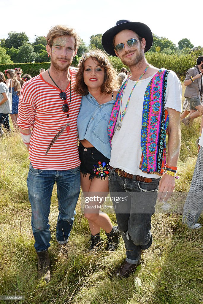 Luke Treadaway Jaime Winstone and Harry Treadaway attend The Mulberry Wilderness Picnic with Cara Delevingne during Wilderness 2014 at Cornbury Park...