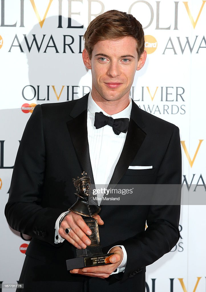 Luke Treadaway poses in the press room at The Laurence Olivier Awards at The Royal Opera House on April 28, 2013 in London, England.