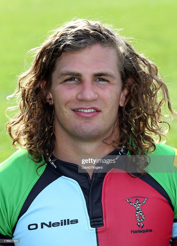 Luke Wallace of Harlequins poses for a portrait at the Surrey Sports Park on August 19, 2013 in Guildford, England.