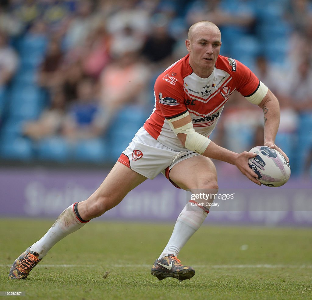 Luke Walsh of St Helens in action during the Super League match between Warrington Wolves and St Helens at Etihad Stadium on May 18, 2014 in Manchester, England.