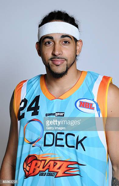 Luke Whitehead of the Blaze poses during the official Gold Coast Blaze 2008/2009 NBL portrait session at The Southport School on October 20 2008 on...
