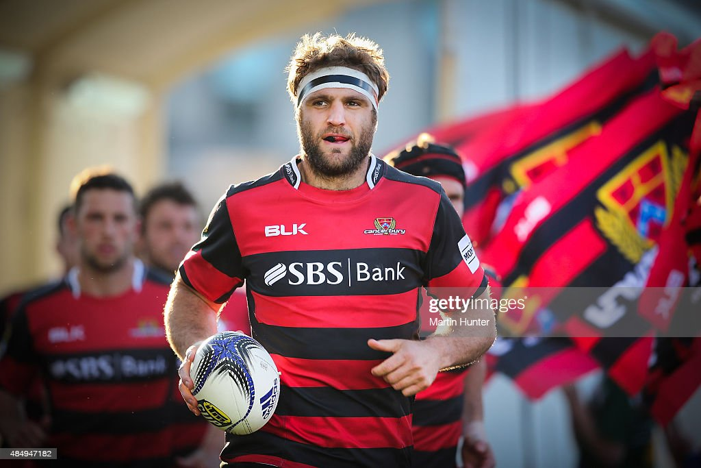 <a gi-track='captionPersonalityLinkClicked' href=/galleries/search?phrase=Luke+Whitelock&family=editorial&specificpeople=7045783 ng-click='$event.stopPropagation()'>Luke Whitelock</a>, new Canterbury captain leads out his team prior to the round two ITM Cup match between Canterbury and Counties Manukau at AMI Stadium on August 23, 2015 in Christchurch, New Zealand.
