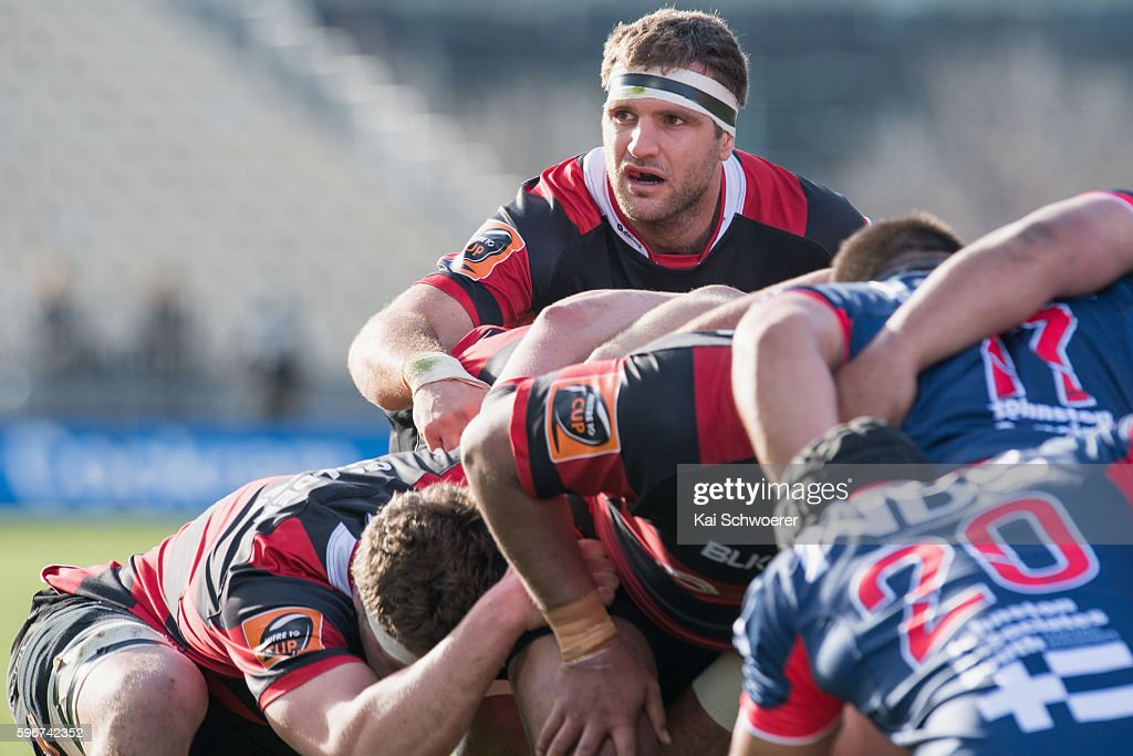 Luke Whitelock of Canterbury looks on during the round two Mitre 10 Cup match between Canterbury and Tasman at AMI Stadium on August 28 2016 in...