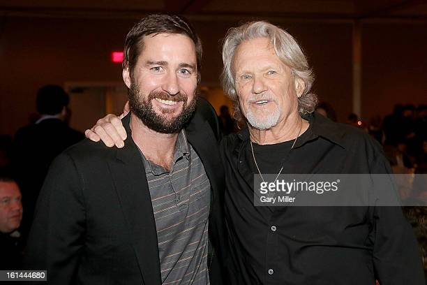 Luke Wilson and Kris Kristofferson pose during the Nobelity Projects Artists and Filmmakers Dinner honoring Kris Kristofferson with the Feed The...