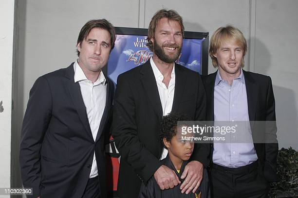 Luke Wilson Andrew Wilson and Owen Wilson during 'The Wendell Baker Story' Los Angeles Premiere Arrivals at Writers Guild Theater in Los Angeles...