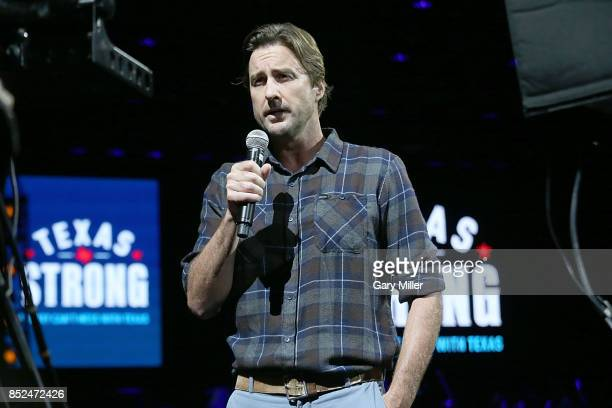 Luke Wilson emcees the 'Texas Strong Hurricane Harvey Can't Mess With Texas' benefit at The Frank Erwin Center on September 22 2017 in Austin Texas