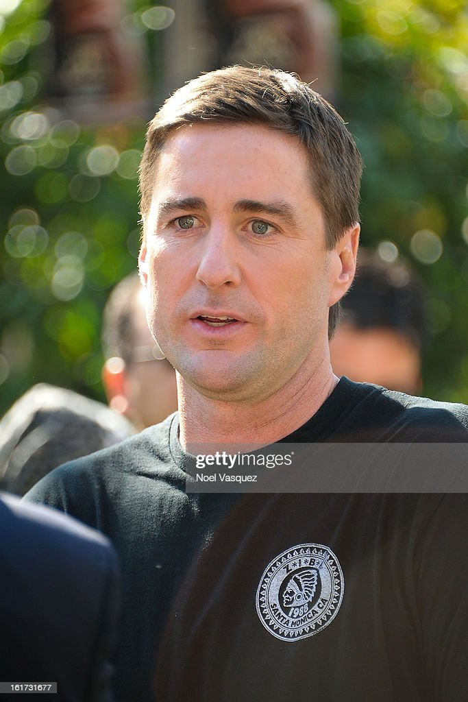 Luke Wilson is sighted at The Grove on February 14, 2013 in Los Angeles, California.